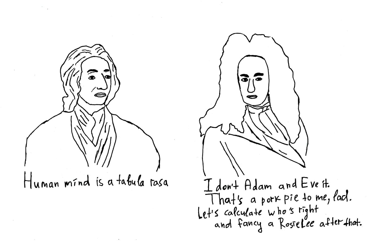 Leibniz with Locke