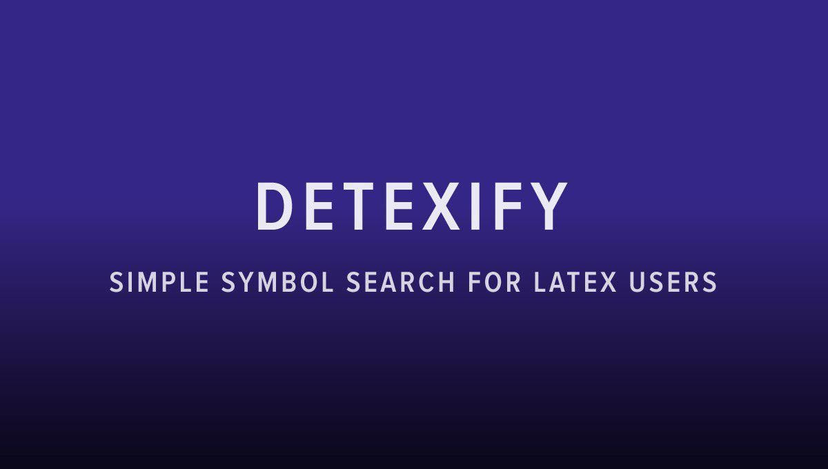 simple symbol search for latex