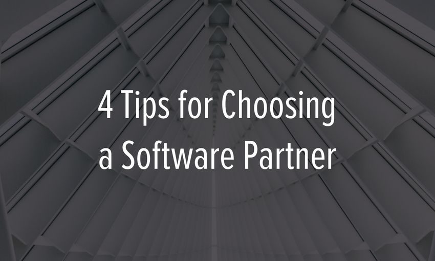 Tips for choosing a software partner