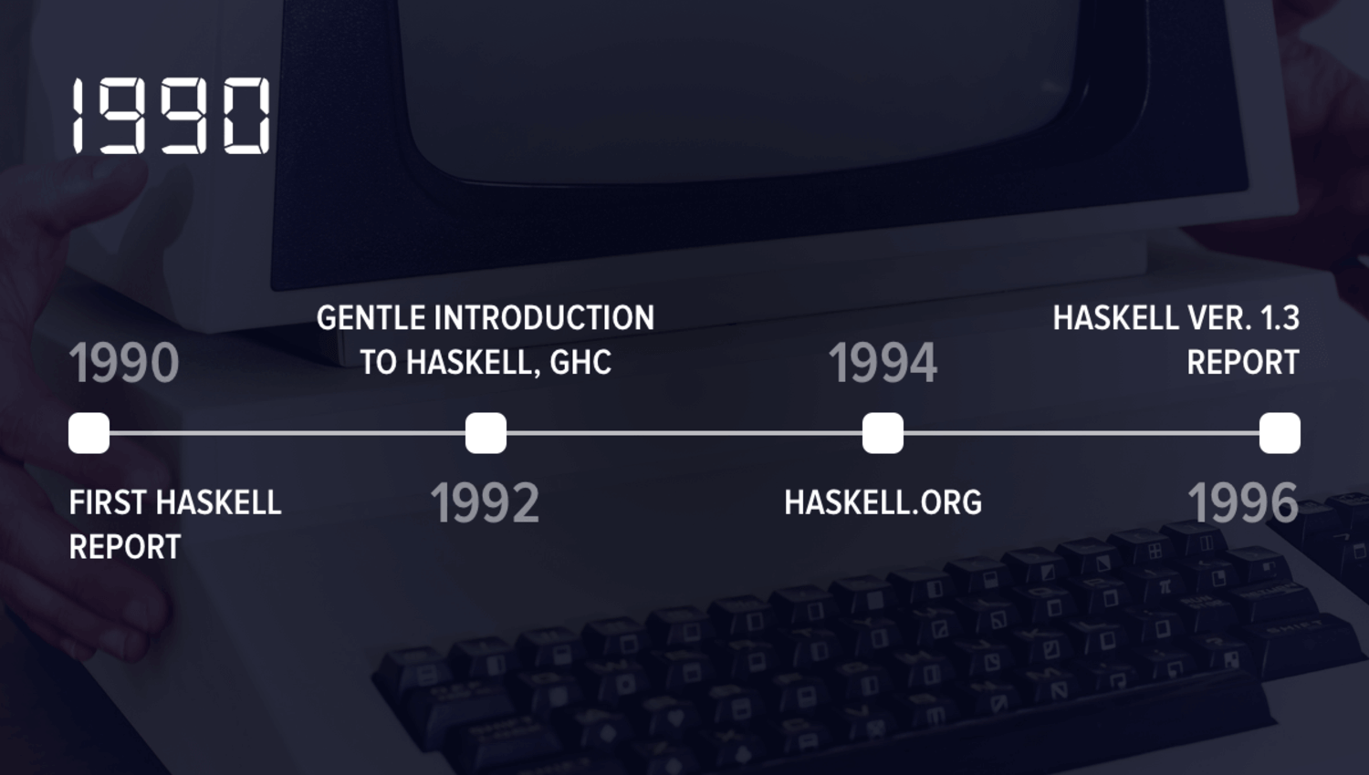 The productive 90's of Haskell evolution