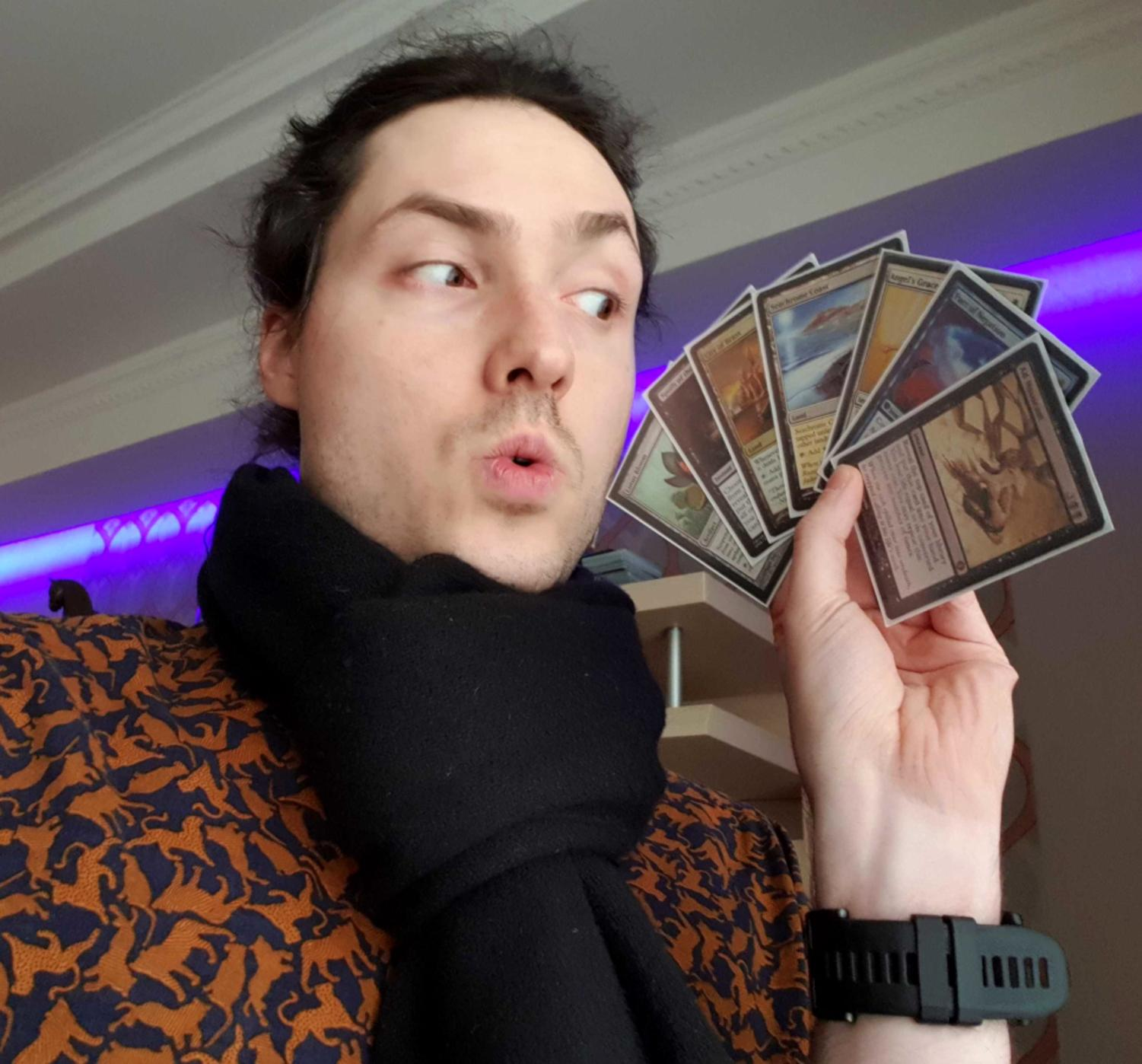 Jonn and his MTG cards